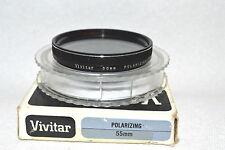 Vivitar 55 mm Polarizing Screw-In Filter with Case Made in Japan (M57)