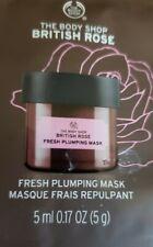The Body Shop British Rose Fresh Plumping Mask  5 Ml.0.17 Oz...Sample