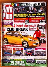 AUTO PLUS du 10/04/2007; Clio Break/ Essai Toyota Auris/ Ventes sur Parkings