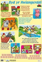 Welsh Nursery Rhymes A2 Size . Educational / Welsh language - Large size