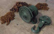 Yale  1-1/2 Ton Spur Geared Block w/ Chains & 3-Ton Hoist Hook  125  526