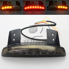 Chopped Fender Edge LED Tail Light Turn Signals Smoke Harley Sportster 883 1200