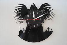 Death Design vinyl record wall clock [ black matt sticker ] home art bedroom