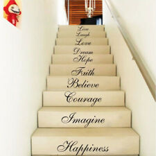 Wall Stair Riser Stickers Ten Inspiration Words Quotes Decals Home Vinyl Decors