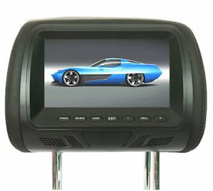 Universal 7 Inch Screen Car Headrest Monitor Video DVD Player USB TV IR SD