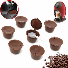 7x Coffee Capsules Pod Dolce Gusto Compatible Refillable Reusable Permanent