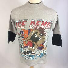 Vintage 90s Grunge Freeze Taz Looney Tunes Ice Devil Hockey Surf Skate T Shirt