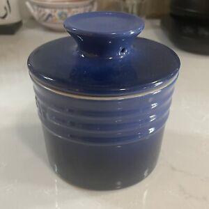 LE CREUSET ~ Cobalt Blue 6 Ounce Butter Bell Crock ~ Mint ~ Cooking / Baking