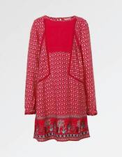 Fat Face Isla Embroidered Print Dress - Red-Cardinal - Size UK 6-7 - RRP £24.00