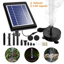 Solar Bomba de Estanque Juego Agua Primavera Fuente Jardín con Batería LED