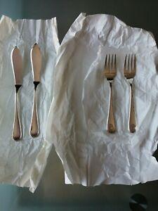 Forchette E Coltelli da pesce in Argento 800, Collezione Inglese Schiavon.