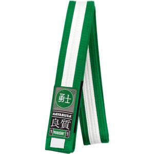 Hayabusa Youth Jiu-Jitsu Belt - Green/White