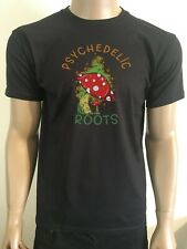 PSYCHEDELIC MUSHROOM T SHIRT SHROOMS TERENCE MCKENNA TRIPPY