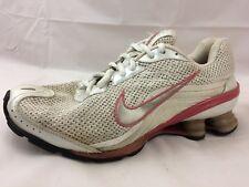 Nike Shox Womens 7.5 M 317541-102 Sneaker Shoe Athletic White Beige Pink Running