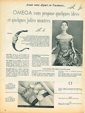 PUBLICITE ADVERTISING 114  1955  OMEGA   collection montres