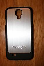 Samsung Galaxy S4 S Iv I9500 METÁLICA CEPILLADA Alluminium Funda De Plástico