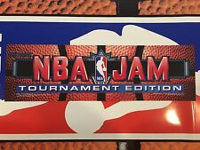 NBA Jam Tournament Edition TE Arcade Marquee Midway Translight Header Backlit