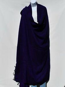 Blanket/Throw | Yak Wool Blend |Nepal |Handmade |Over-Sized | Purple & Black