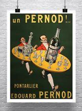 Pernod Absinthe Vintage French Advertising Poster Canvas Giclee Print 24x32 in.