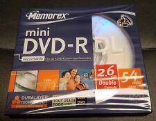 5 trozo de nuevo memorex 5 x mini DVD-R DL 2,6 gb 54min 8cm videocámara camcorder