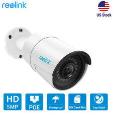 5MP PoE IP Security Camera Audio Mic Indoor Outdoor SD Card Slot Reolink RLC-410
