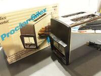Vintg Retro Proctor Silex 2-Slice Toaster Silver Mirror Chrome T204B NEW IN BOX