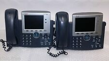 Lot of 2 Cisco CP-7945G POE Color Display Unified IP VoIP Business Telephone