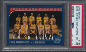 2002 Topps Basketball #184 Los Angeles Lakers NBA Champions Kobe Shaq PSA 6