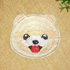 2x Pom Pomeranian Dog Iron On Embroidered Patch Diy transfer badges German Spitz