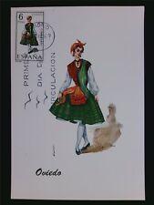 SPAIN MK 1969 COSTUMES OVIEDO TRACHTEN MAXIMUMKARTE MAXIMUM CARD MC CM c6065