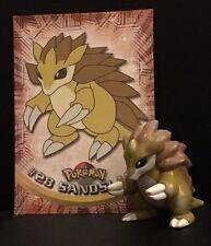 Original Nintendo Tomy Sandslash #28 Pokemon ir carácter Rara Vintage Figura De Juguete