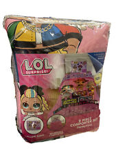 LOL Surprise 2pc Twin/Full Reversible Comforter w Pillow Sham NEW Remix Set