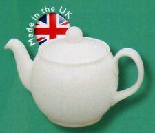 "White Bone China ""Brown Betty"" - 6 cup Teapot - Tea Pot - U.K. Made"