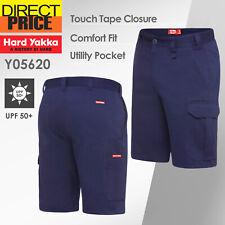 Hard Yakka Work Shorts Heavy Duty Cargo Drill Short Y05620 Navy NEW