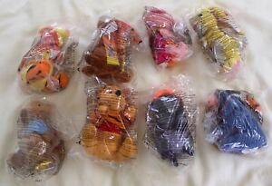 Disney TIGGER MOVIE Happy Meal EUROPEAN Toy RARE PLUSH SET Winnie the Pooh