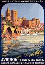 Affiche chemin de fer PLM - Avignon