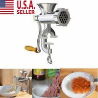 Meat Grinder Mincer Stuffer Hand Manual Sausage Filler Sauce Maker Machine NEW