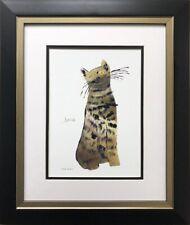 "Andy Warhol "" Green Sam"" 1954 CUSTOM FRAMED Pop Art  NEW Feline Psychedelic Cat"