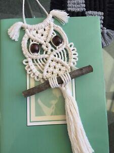 BABY OWL  DIY KIT  Macrame  Art Weave Wall Hanging Home Decor