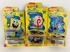 Hot Wheels Walmart Nickelodeon SpongeBob Squarepants Complete Set of 6