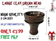 Large  Egyptian Clay Head Shisha Bowl Hookah Al Fakher Sheesha +++ Khalil Mamoon