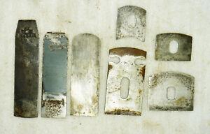 7St. Eisen für kleine Hobel oder Schabhobel  verschiedene Breiten und Hersteller