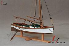 """Laser cut wood ship model kits scale 1/35 7.8"""" FLATTLE fishing boat wooden model"""