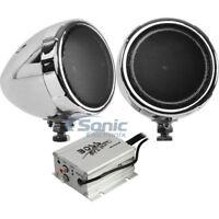 "Boss MC420B 3"" 600W RMS Full Range Bluetooth Motorcycle/ATV Speaker & Amp System"