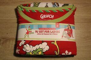 """NEW Holiday Family Pajamas Ladies' PJ Set The Grinch 2 Piece """"Merry Grinchmas"""""""