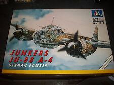 ITALERI  JUNKERS JU-88 A-4 GERMAN BOMBER  MODEL 1/72