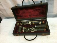 Vintage Alexander Pairs Clarinet 1940s wood serial #30945 Parts Repair with case