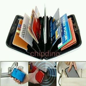 RFID Blocking Aluminum Slim Pocket Holder License ID Protect Credit Card Wallet