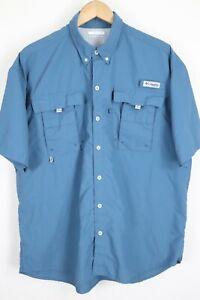 "Mens Columbia PFG ""Bahama II"" Omni-Shade Vented Short Sleeve Fishing Shirt sz L"