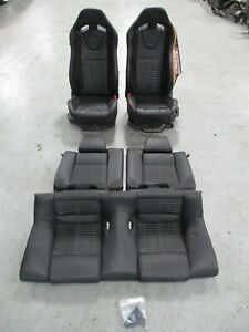 2013-14 Ford Mustang Shelby GT500 Coupe Black OEM Factory Recaro Seats 076